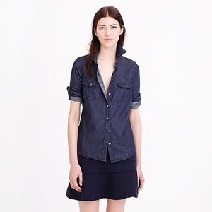 J. Crew Chambray Denim Shirt